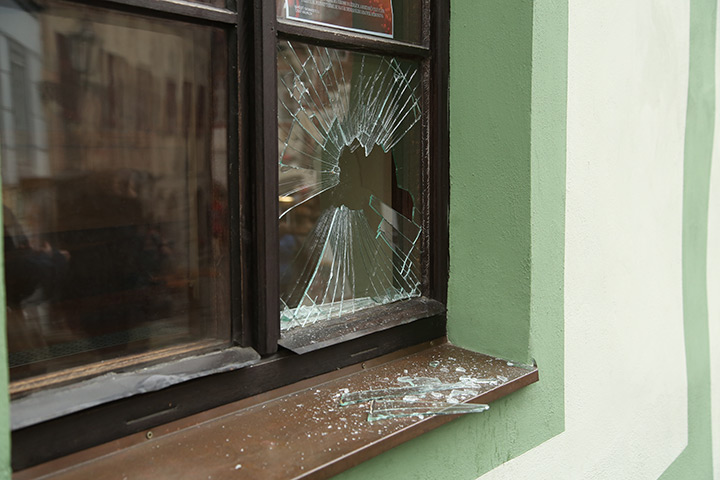 A2B Glass are able to board up broken windows while they are being repaired in Mitcham.